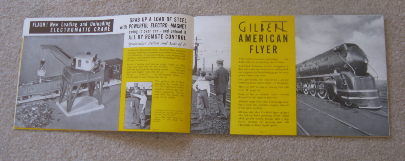 1939 Gilbert American Flyer Catalog (D1311) Excellent Condition