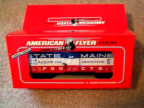 1992 American Flyer State Of Main Box Car (6-48313). Mint Condition.
