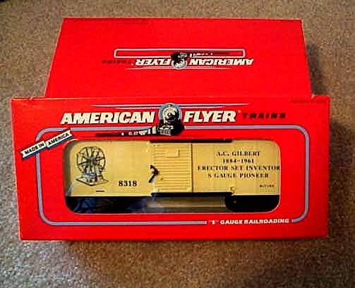 1993 American Flyer A.C. Gilbert Box Car (6-48318). Mint Condition.