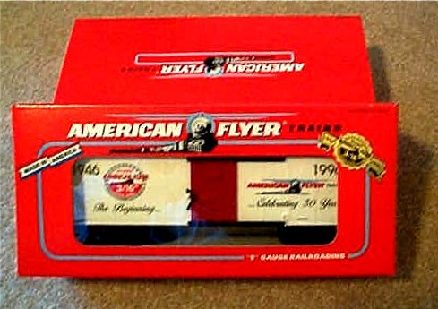1996 American Flyer 50th Anniversary Box Car (6-48324). Mint Condition.
