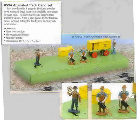 1976 American Flyer Animated Track Gang Set (6-49808). Mint Condition.