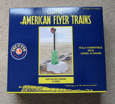 2008 American Flyer 487 Block Signal (6-49833). Mint Condition.
