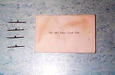 "692 American Flyer ""S"" Fiber Track Pins (4 Pack) Mint Condition"