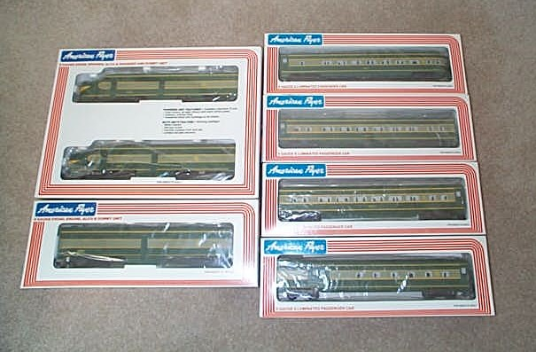 1982 American Flyer Erie Passenger Set (8251). Mint Condition.