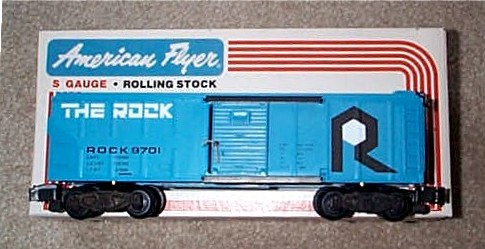 1980 American Flyer 'The Rock' Box Car (4-9701). Mint Condition.