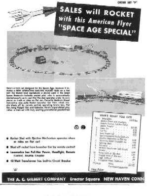 1959 American Flyer Train Space Age Sheet (D2178). Mint Condition.