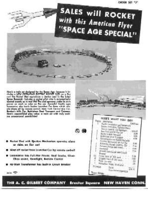 1959 American Flyer Train Space Age Sheet (D2179). Mint Condition.