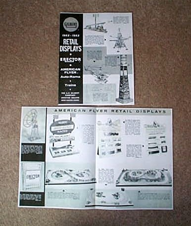 1962-1963 American Flyer Retail Displays Flyer (D2293). Mint Condition.