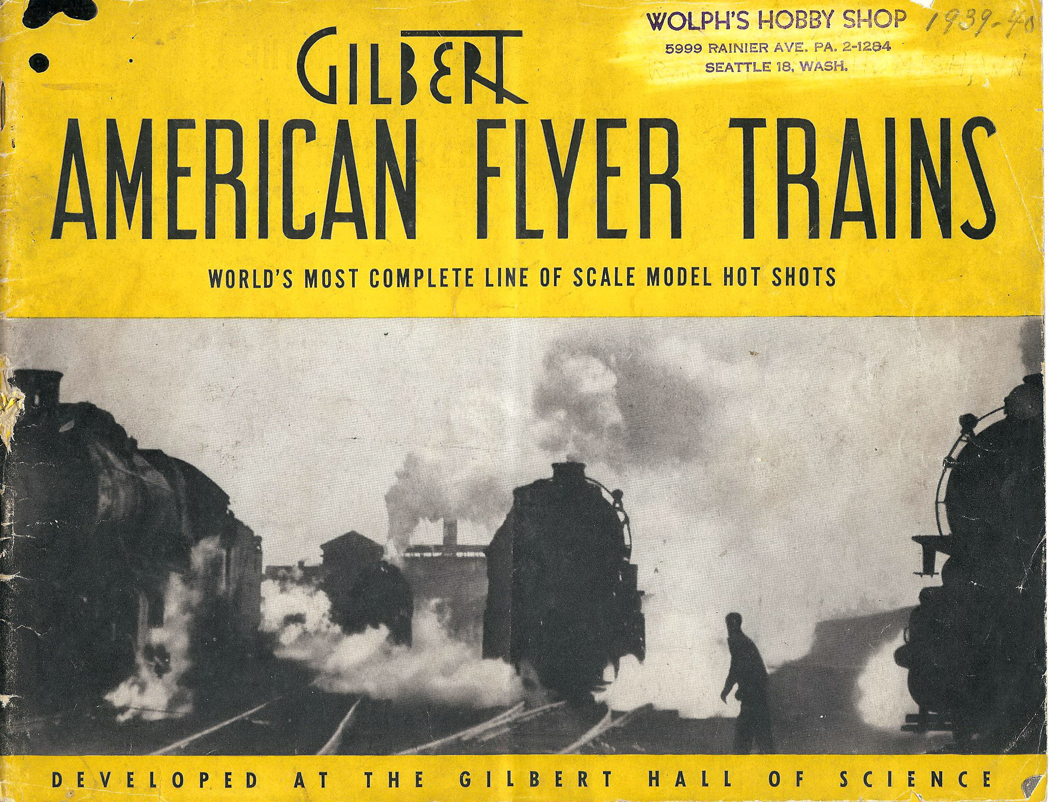 1940 Gilbert American Flyer Consumer Catalog (D1333) Good Condition, Ptn 45-48 Missing