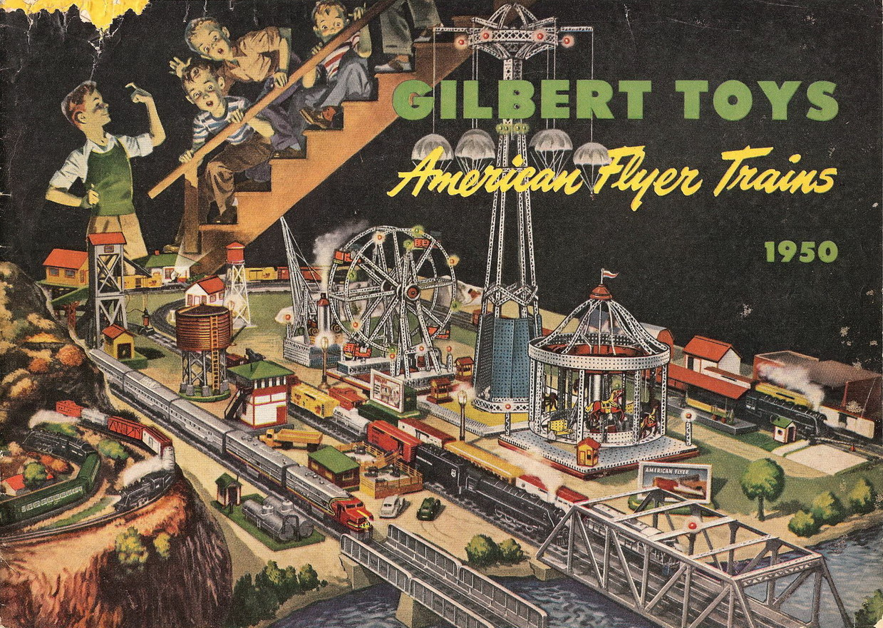 1950 Gilbert American Flyer Advance Catalog (D1604) Very Good Plus Condition