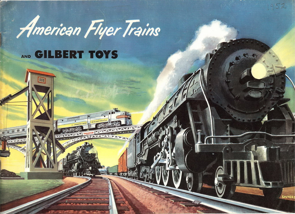 1952 Gilbert American Flyer Consumer Catalog (D1677) Excellent Minus Condition, With Price List
