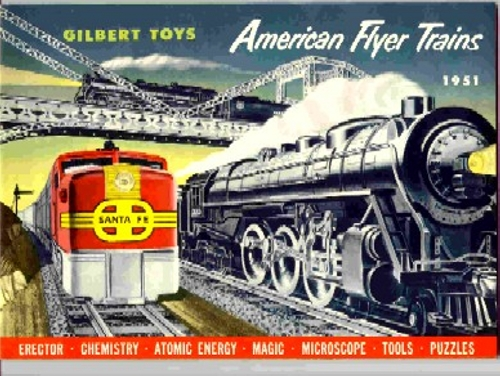 1951 Gilbert American Flyer Consumer Catalog (D1640) Mint Condition, With Price List