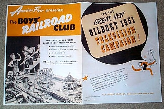 1951 American Flyer Television Promo (D1657). Mint Condition.