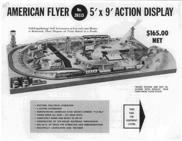 1957 American Flyer Figure 5 X 9 Action Display (D2011). Mint Condition.