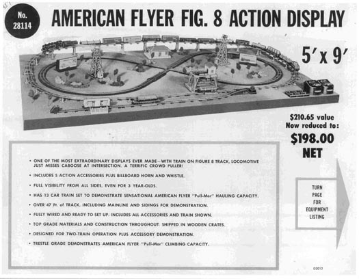 1957 American Flyer Figure 8 Action Display (D2012). Mint Condition.