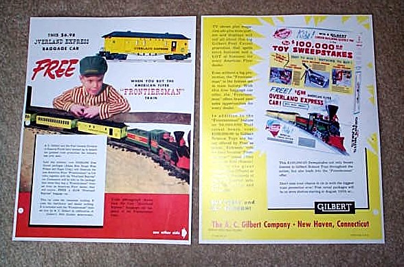 1959 American Flyer Frontiersman Train Promo (D2125). Mint Condition.