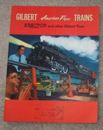 1954 Gilbert American Flyer Advance Catalog (D1748) Near Mint Condition. Stamped. With Price List.
