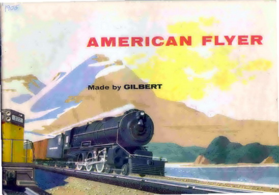 1955 Gilbert American Flyer Consumer Catalog (D1801) Very Good Condition. Rubber Stamped.