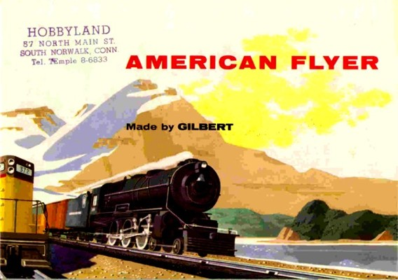 1955 Gilbert American Flyer Consumer Catalog (D1801) Mint Condition. Rubber Stamped.