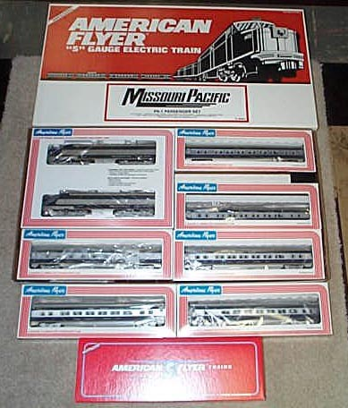 1991 American Flyer Missouri Pacific Train Set (6-49601) Mint Condition