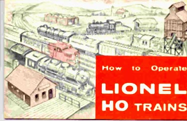 1960 Lionel Trains How To Operate HO Booklet. Mint Condition.