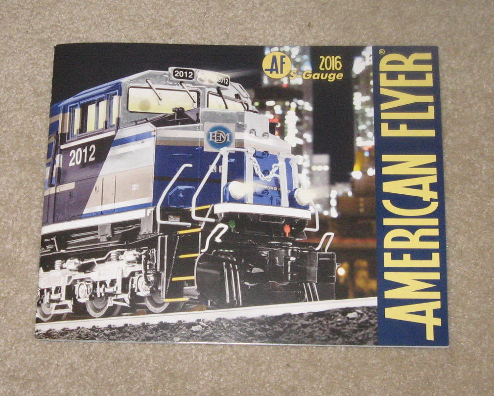 2016 Lionel American Flyer Trains Catalog. Mint Condition.