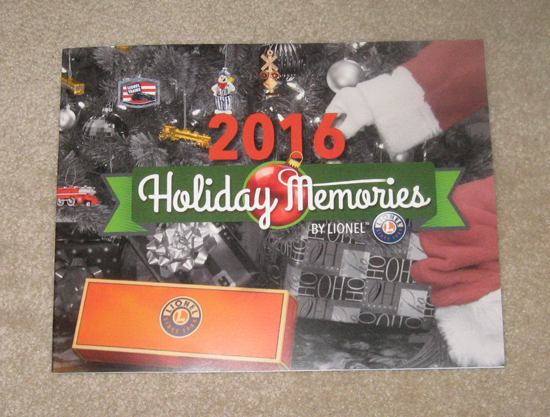 2016 Lionel Trains Holiday Memories Catalog. Mint Condition.