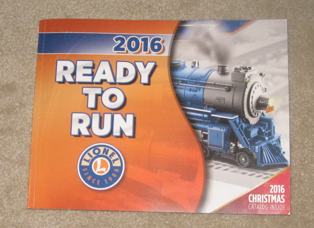2016 Lionel Trains Ready To Run Catalog. Mint Condition.