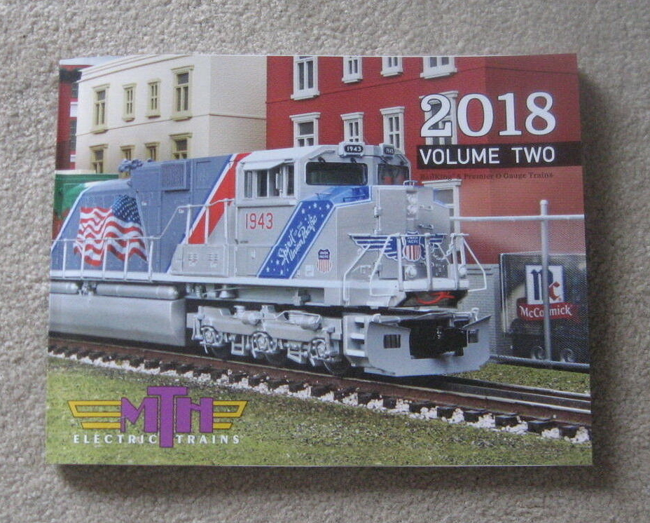 2018 MTH Electric Trains Volume Two Catalog. Mint Condition
