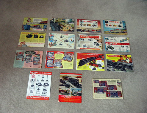 1945-1959 Lionel Consumer Catalogs (Seconds) Good to Very Good Condition.