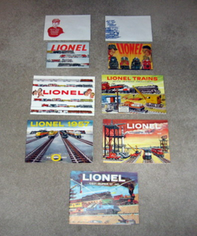 1953-1959 Lionel Catalogs. Mint Condition.