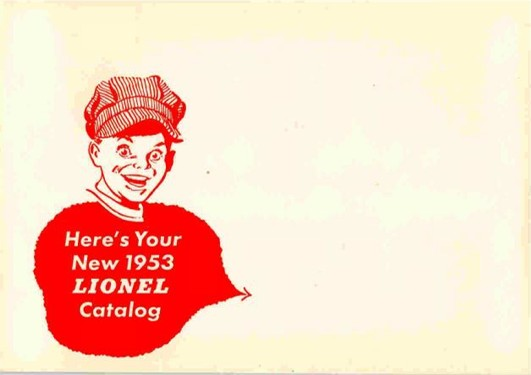 1953 Lionel Pocket Size Catalog Envelope. Mint Condition.