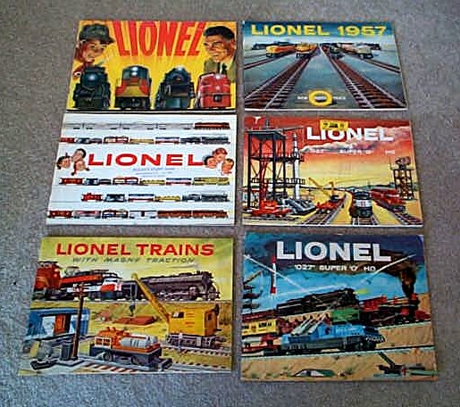 1954-1959 Lionel Consumer Catalogs (Seconds) Good to Very Good Condition.