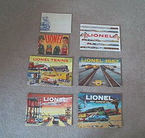 1954 Lionel Pocket Catalog/1955 - 1959 Consumer Catalogs. Mint Condition.
