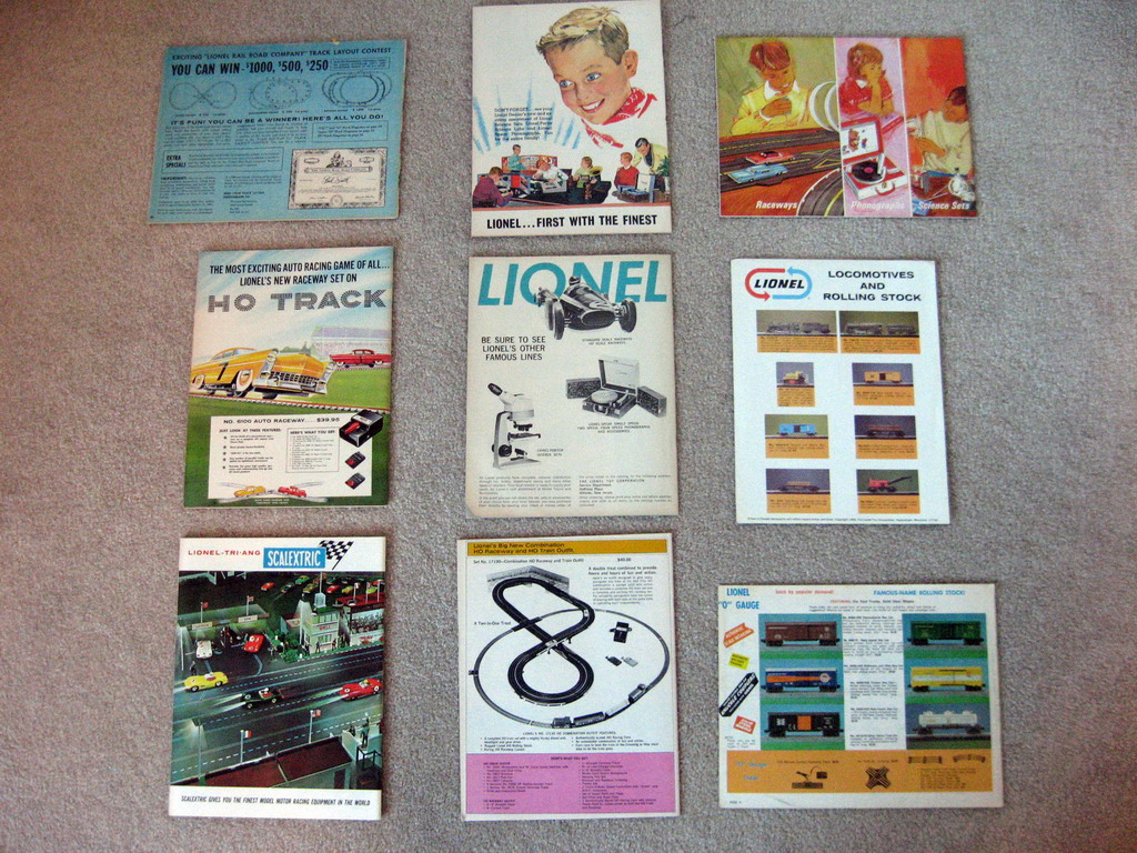 1945-1969 Lionel Consumer Catalogs (Seconds) Good to Very Good Condition.