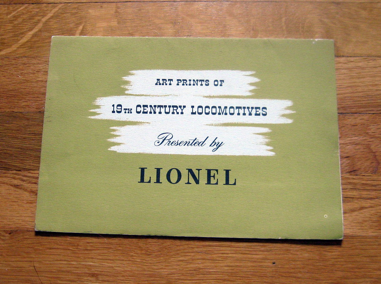 1950 Lionel Art Prints Of 19th Century Locomotives Very Good Condition