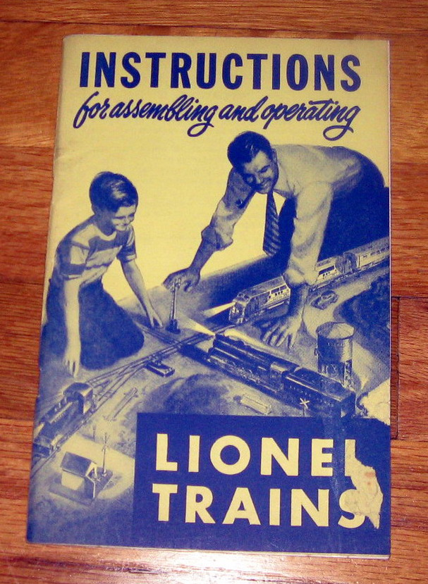 1950 Lionel Instruction Book Very Good Plus Condition