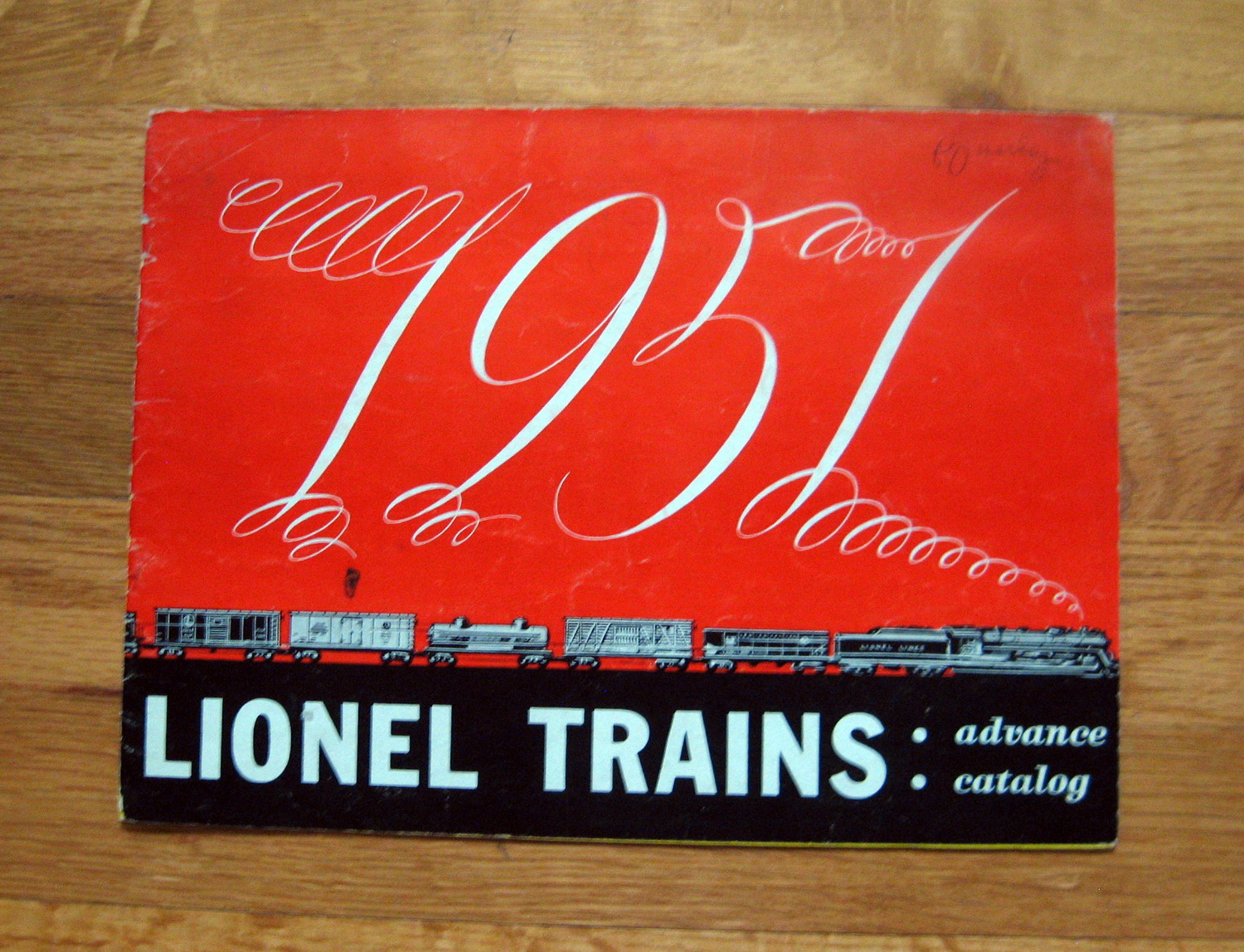 1951 Lionel Advance Catalog Very Good Condition