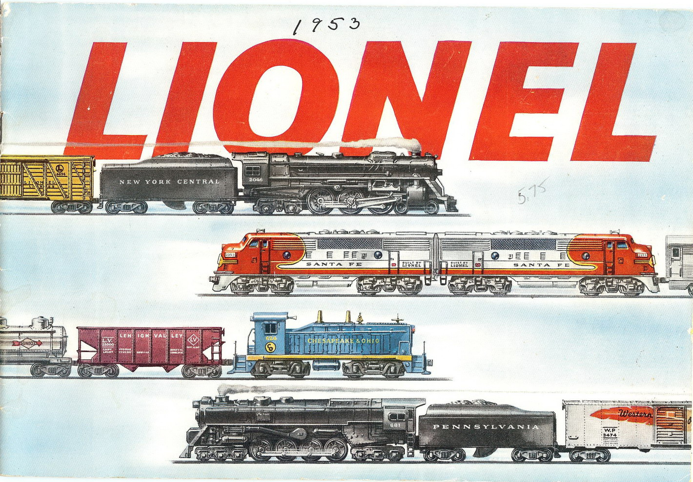 1953 Lionel Consumer Catalog. Very Good Plus Condition.