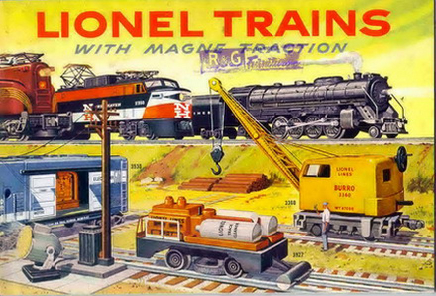 1956 Lionel Consumer Catalog. Excellent Condition. Rubber Stamped.