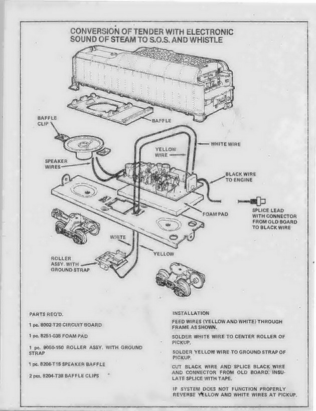 Lionel Whistle Tender Wiring Diagram Manual Guide