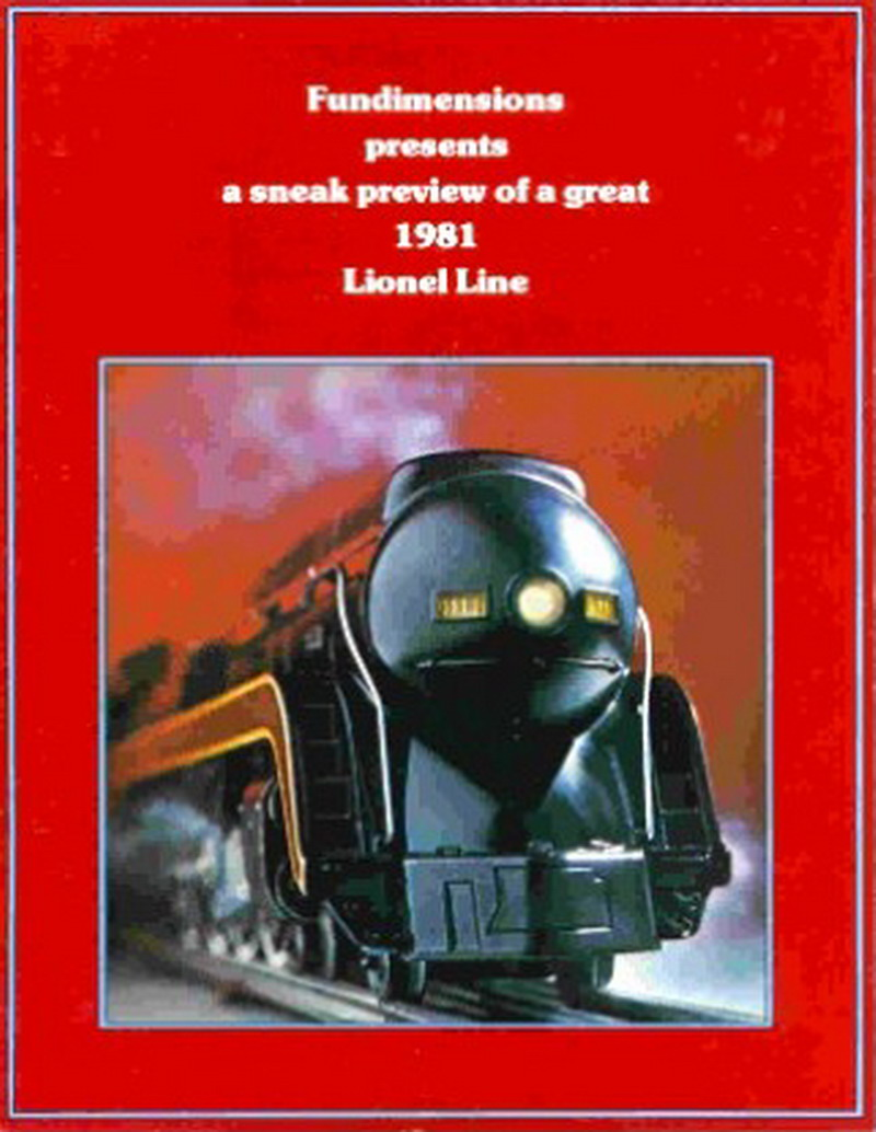 1980 Lionel Preview Of 1981 Line Folder. Near Mint Condition.