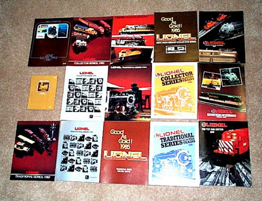 1980 - 1989 Lionel Consumer Catalogs. Lot of 15. Mint Condition.