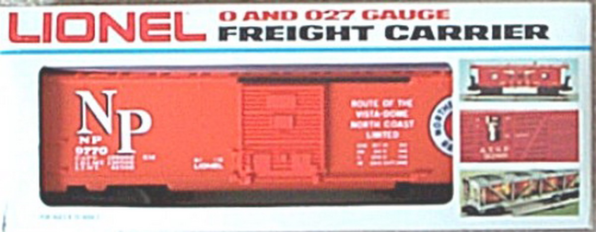 Lionel 9770 Northern Pacific Box Car. Mint Condition.