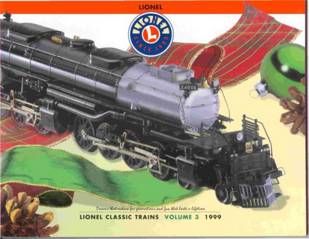 1999 Lionel Classic Trains Catalog Volume 3. Mint Condition.