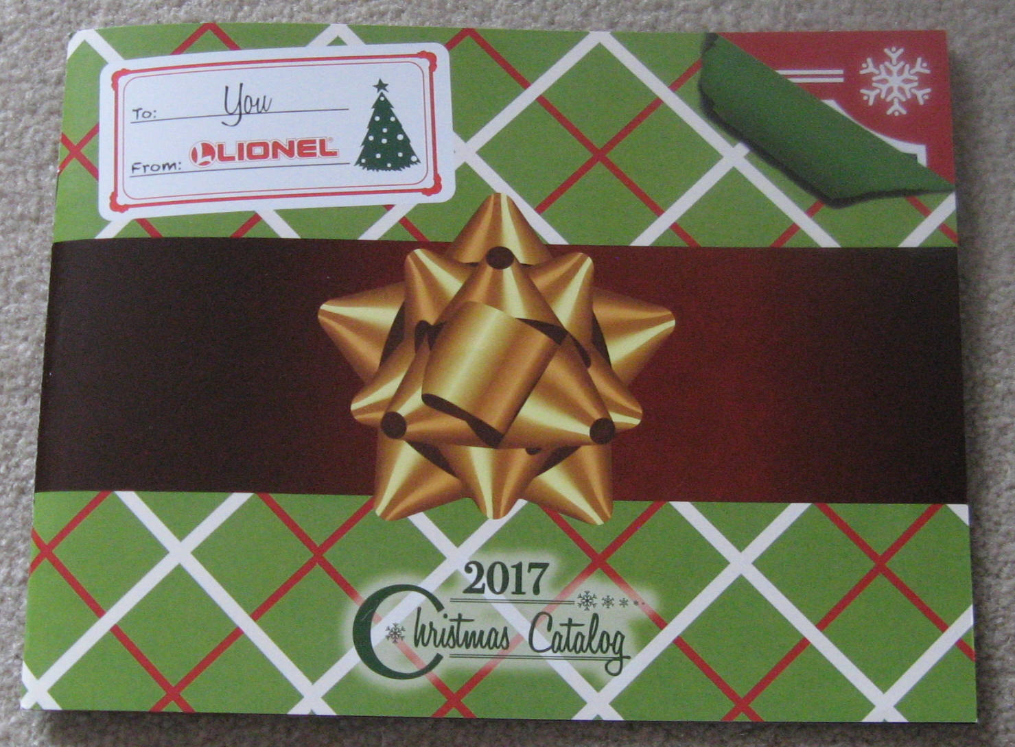 2017 Lionel Trains Christmas Catalog Mint. Mint Condition.