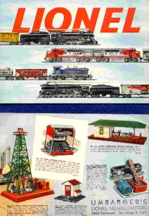 1953 Lionel Consumer Pocket Catalog. Mint Condition. Rubber Stamp.