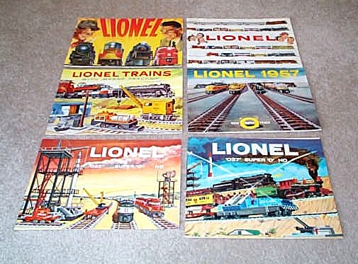 1954-1959 Lionel Consumer Catalogs. Mint Condition.