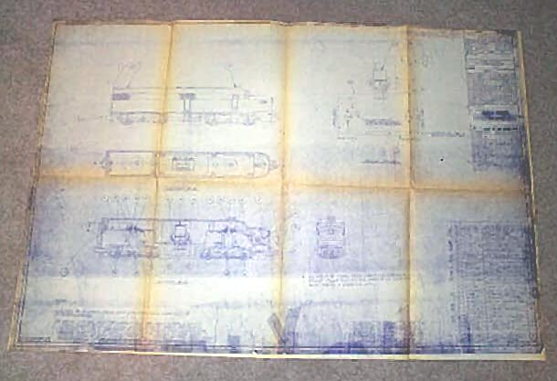 American Flyer Alco Diesel Blueprint. Very Good Condition. Copy.