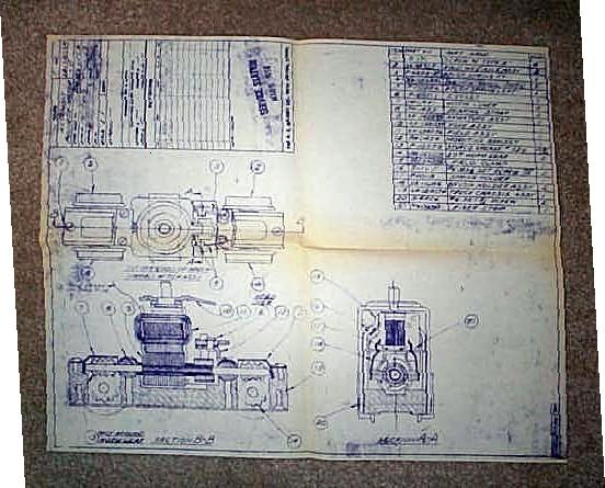 American Flyer Diesel Truck Blueprint. Very Good Condition. Copy.